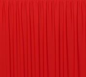 Red background closed curtain in theater. Royalty Free Stock Photography