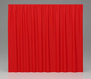 Red background closed curtain in theater. 3d rendering Royalty Free Stock Photo