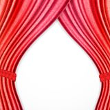Red background with opera curtains Stock Photo