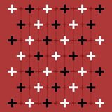 Red background with crosses Royalty Free Stock Image