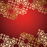 Red vector background with decorative ornament Royalty Free Stock Photo