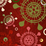 Red background with decorative shapes Royalty Free Stock Photo