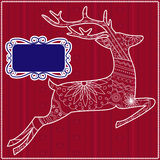 Red background with deer Stock Images