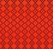 Red background diamonds geometry seamless. Repetition  refraction retro shiny wallpaper abstract Stock Photography