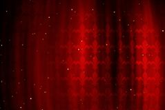 Red background with figure of a royal lily Stock Images
