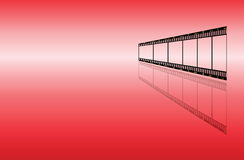 Red background with filmstrip Royalty Free Stock Photo
