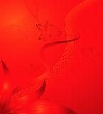 Red background with fish Royalty Free Stock Images