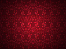 Red background with floral pattern Royalty Free Stock Photo
