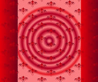 Red background, floral seamless Royalty Free Stock Photos