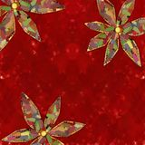 Red Background with flowers Royalty Free Stock Photos