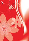 Red background flowers Royalty Free Stock Images