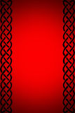 Red background with frame. Black frame in red background Royalty Free Stock Image