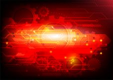 Red background and gears abstract technology. vector illustration Royalty Free Stock Photo