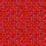 Red background with geometric elements. Pattern Royalty Free Stock Photo