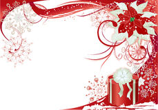 Red background with gift Stock Images