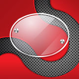 Red background with glass framework Royalty Free Stock Image