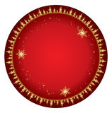 Red vector background with gold decor - christmas Stock Images