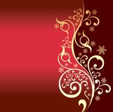 Red background with a gold pattern Stock Photography
