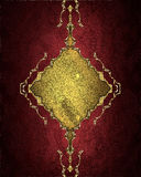 Red background with a gold pattern. Element for design. Template for design. copy space for ad brochure or announcement invitation Royalty Free Stock Photography