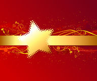Red background with gold stripe. Royalty Free Stock Image