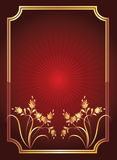 Red background with golden ornament Royalty Free Stock Photography