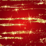 Red background with golden paint splashes Royalty Free Stock Image