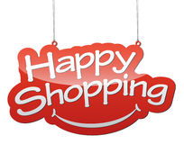 Red  background happy shopping. This is red  background happy shopping Royalty Free Stock Photography