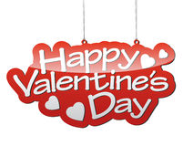 Red  background happy valentine�s day Royalty Free Stock Photography