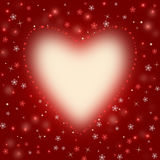 Red background with a heart Royalty Free Stock Image