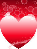 Red background with heart Royalty Free Stock Photos