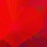 Red background with heart. Computer generated illustration of red background with heart Royalty Free Stock Photography