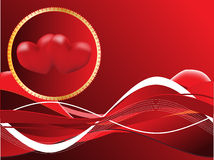 Red background with heart. Dark Red background with hearts Royalty Free Stock Photo