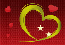 Red background with heart Royalty Free Stock Images