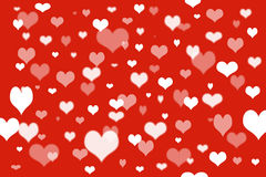 Red background and heart Stock Photography