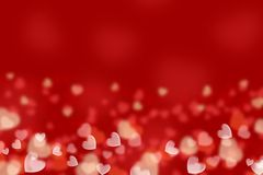 Red background, hearts. Royalty Free Stock Photo