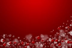 Red background,with hearts. Stock Photo