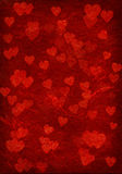 Red background with hearts. Royalty Free Stock Images