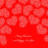 Red background with hearts Royalty Free Stock Photo