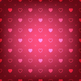 Red background with hearts seamless pattern. Vector illustration - eps 10 royalty free illustration