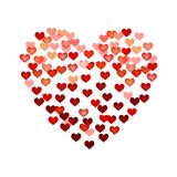 Background with hearts - stock vector. Red background with hearts - stock vector Stock Image