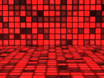 Red Background with illuminated Squares Royalty Free Stock Photo