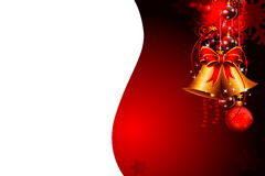 Red background with jingle bell Stock Image