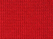 Red background (knitted fabric). Piece of knitted woolen fabric usable as background (horizontal Stock Photography