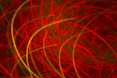 Red background with light curved lines Stock Image