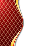 Red background with lines Royalty Free Stock Image