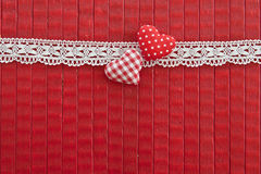 Red background with little red hearts Stock Photo