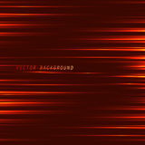 Red background with neon lines.  Red light line. Royalty Free Stock Photo
