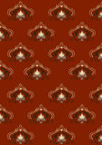 Red background with old classic pattern Royalty Free Stock Photo