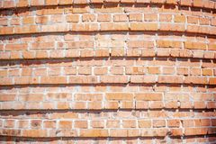 Red Background. Old Grungy Brick Wall, Horizontal Texture royalty free stock image