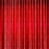 Red background with opera curtains with flowers Royalty Free Stock Photos